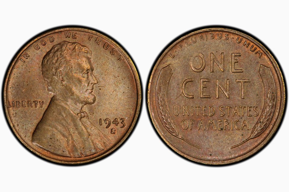 1943-S Bronze Lincoln Cent Graded MS-63 Brown