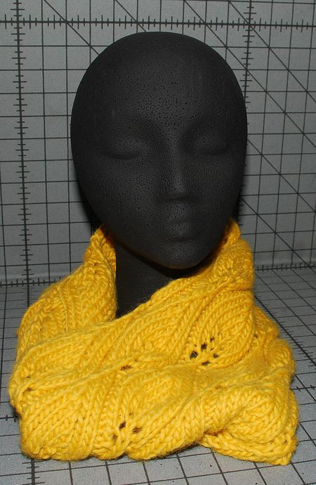 Free Knitting Pattern For A Cowl In Candle Flame Stitch