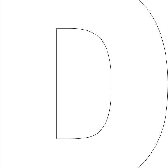 Free Printable D Template