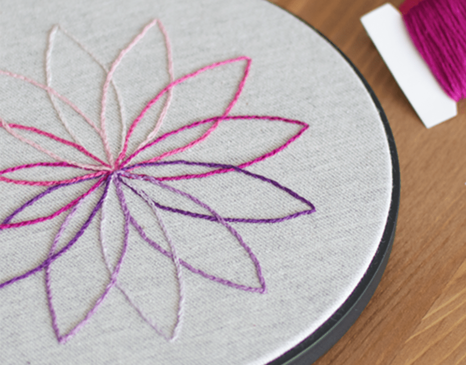 Modern Simple Flower Pattern