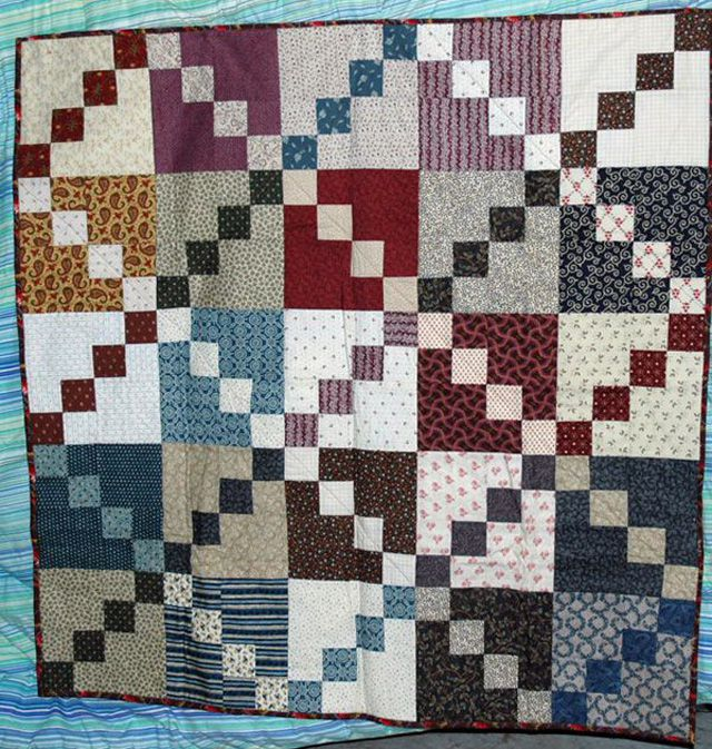 About the Double Four Patch Scrap Quilt