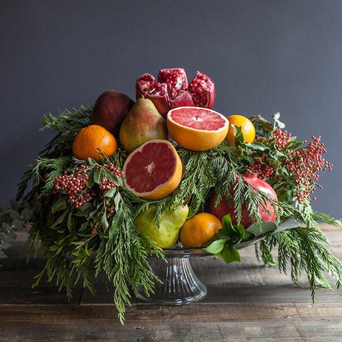 Fruit and Fir Centerpiece