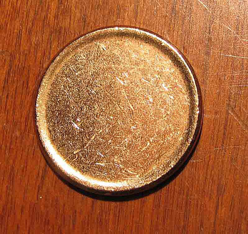Unstruck blank coin