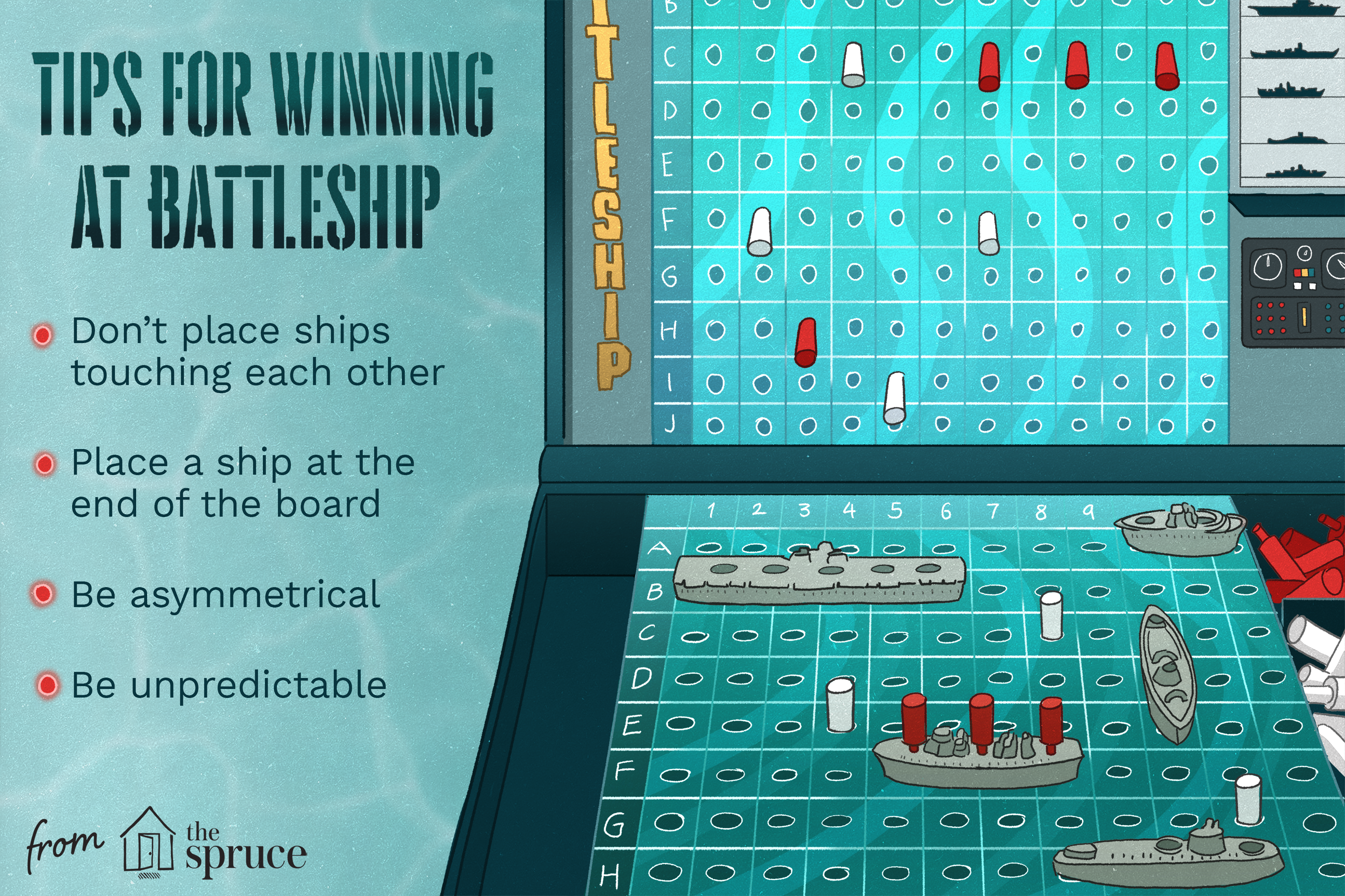 tips for winning battleship illustration