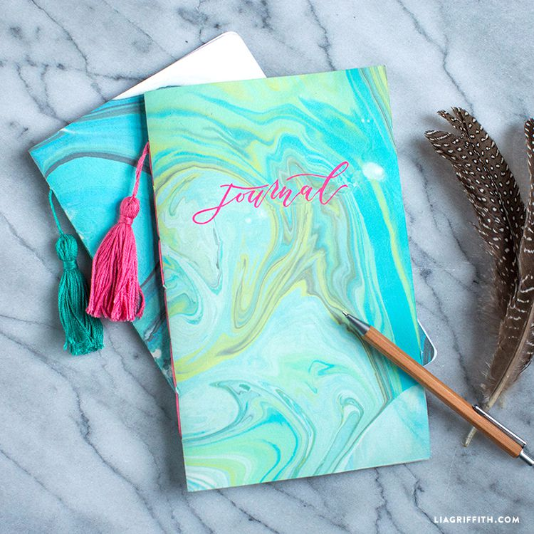 Marbled Paper Journal