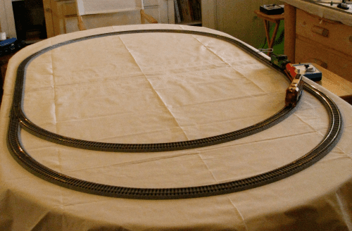 Laying down the track