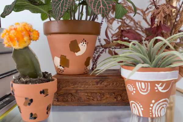 Close up for pots