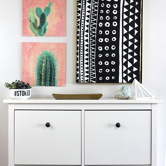 DIY Photo Transfer Cactus Art