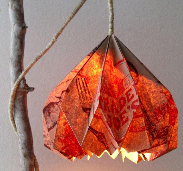 paper bag pendant light crafts