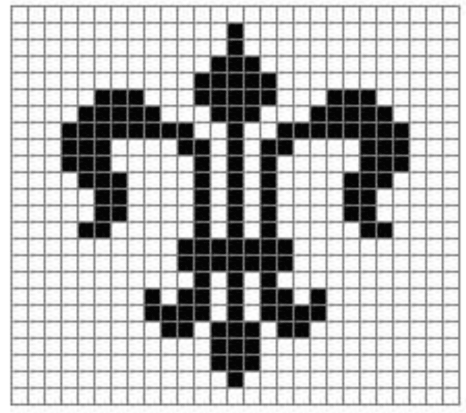 Fleur De Lis Filet Crochet Chart