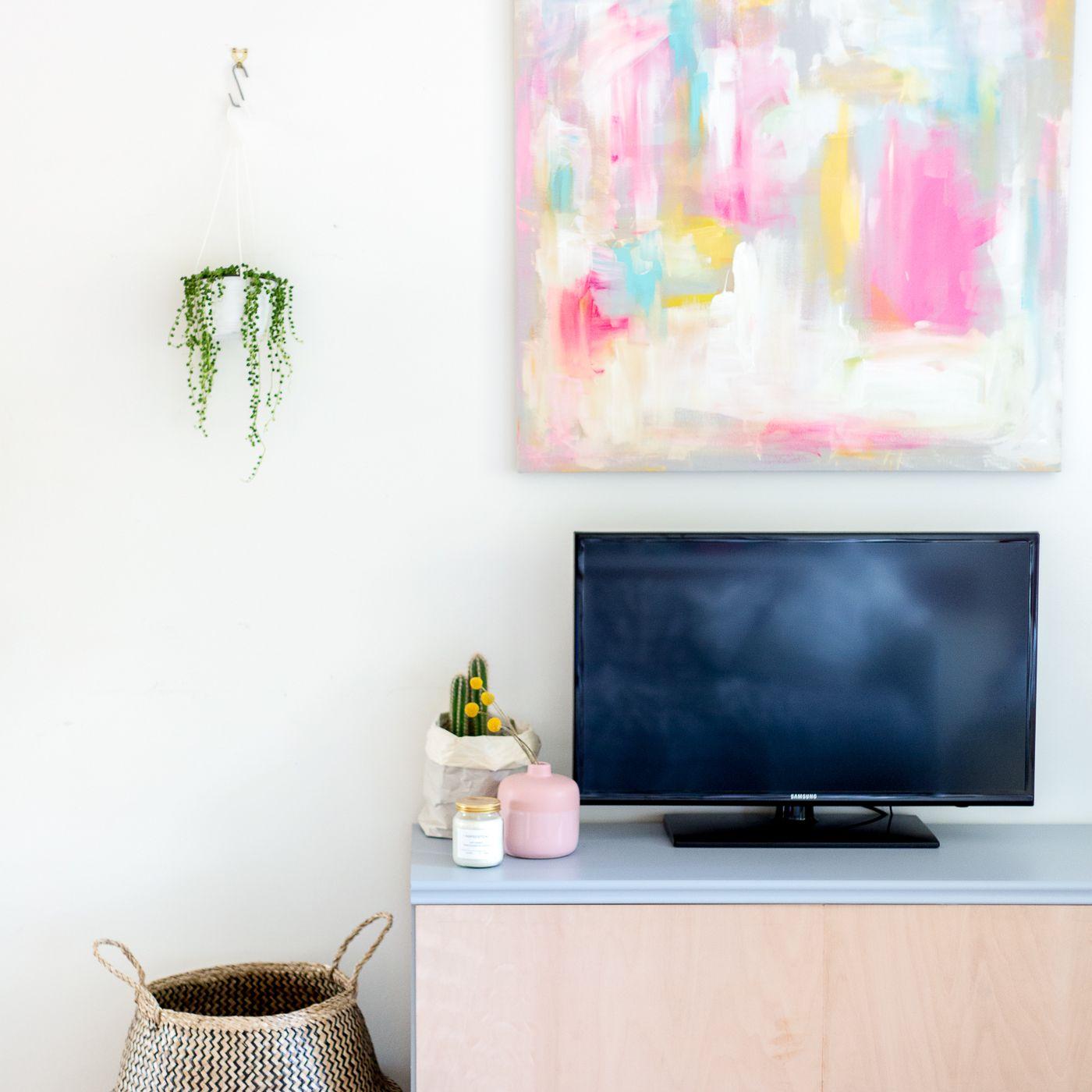 DIY Media Center Sideboard