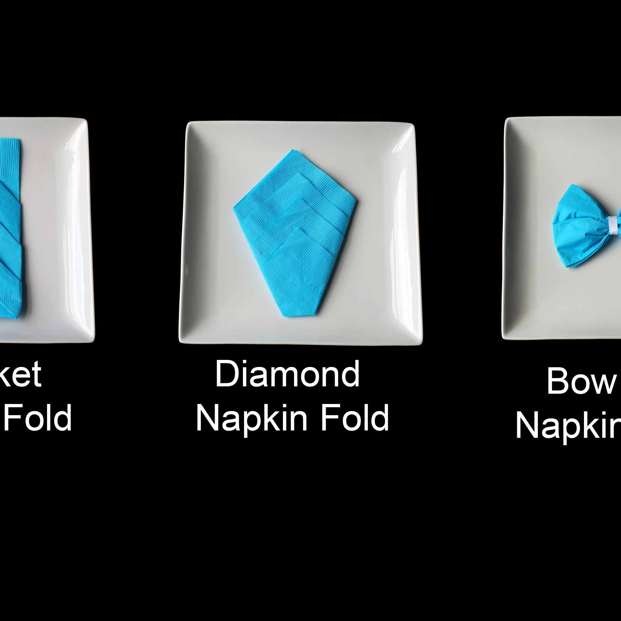 Three Types Of Decorative Napkin Folds For Your Table