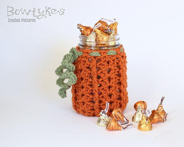 Pumpkin Crochet Jar Cozy