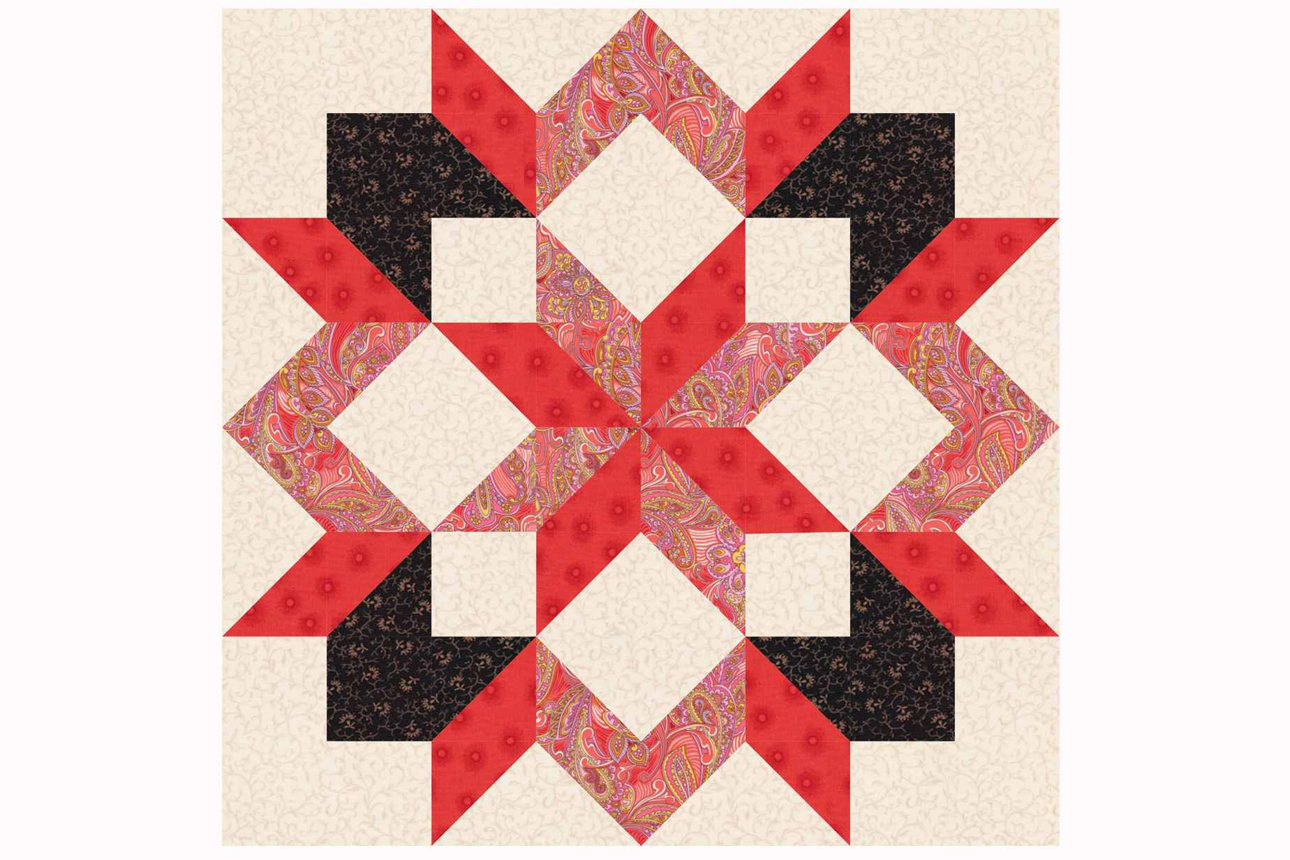 Carpenter s Star Quilt Block Pattern