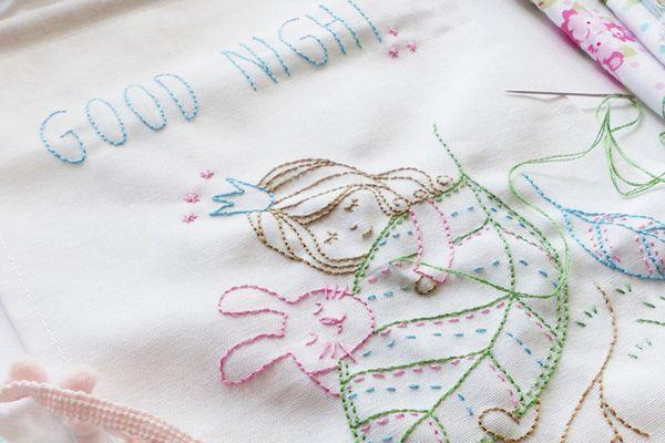 Good Night Embroidery Pattern