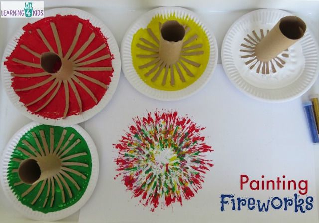 Painting fireworks craft