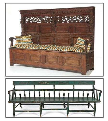 - Settle Compared To The Settee In Antique Furniture