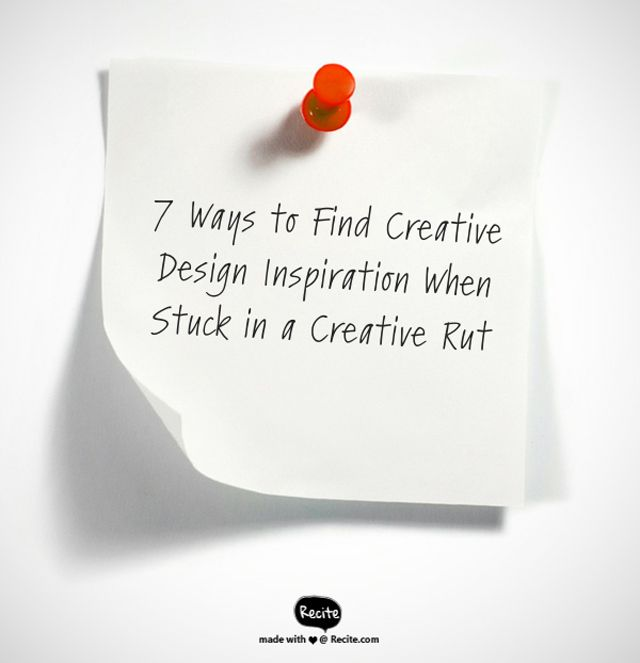 seven ideas for creative inspiration