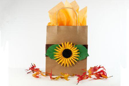 sunflower kraft paper gift bag