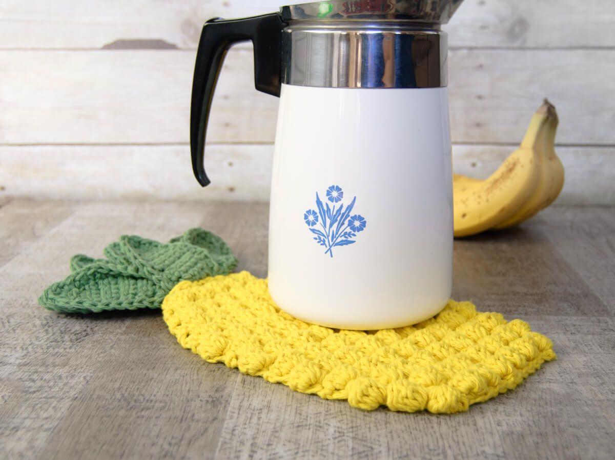 Pineapple Hot Pad Crochet Pattern