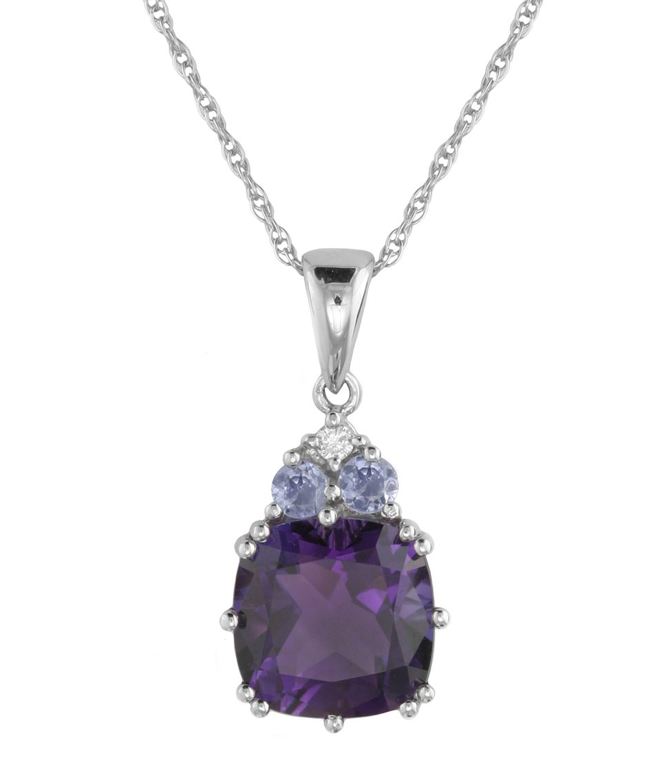 Diamond & Multi Stone Pendant