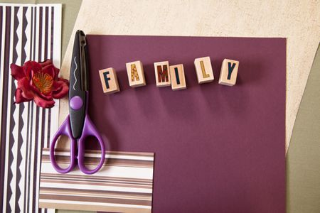 Use Your Rubber Stamps To Decorate Scrapbook Pages