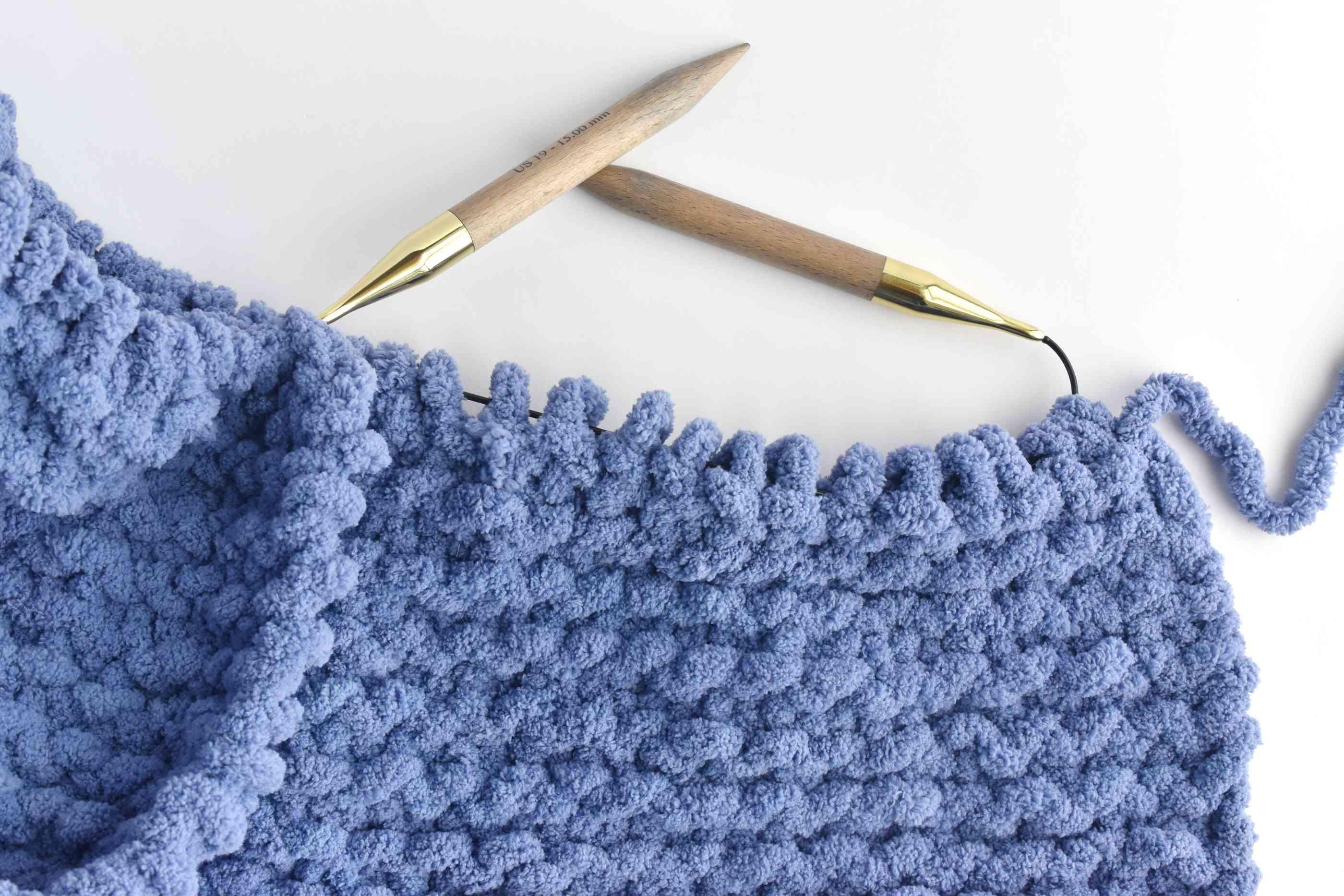 Knit Rows of Garter Stitch