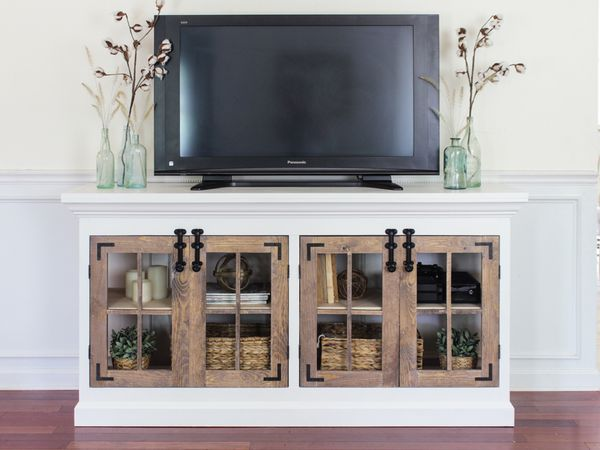Free Diy Tv Stand Plans You Can Build, Tv Stand For Media Storage Assembly