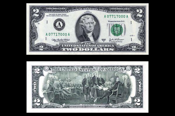 United States Two Dollar Bill