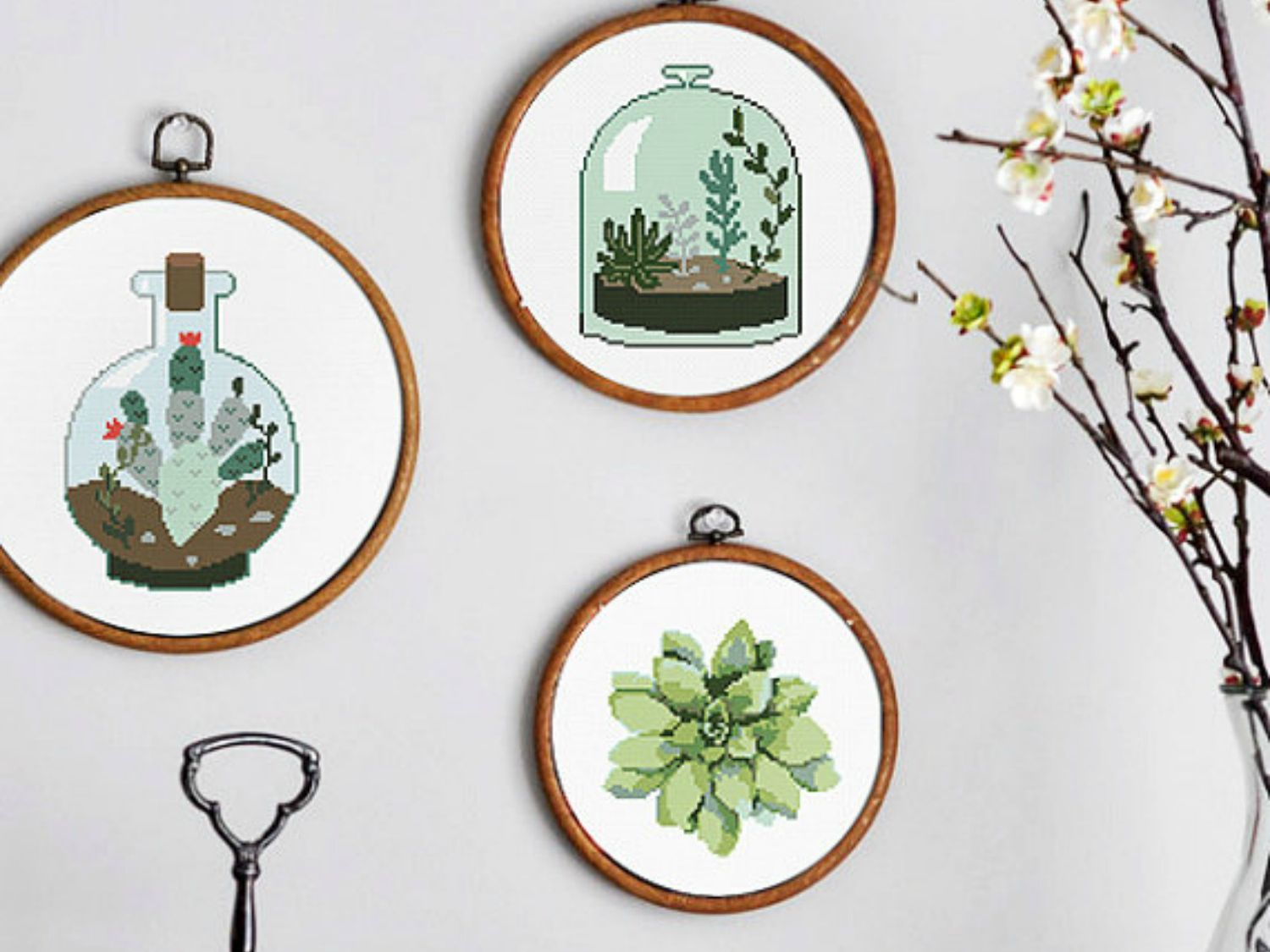 Succulent And Cacti Cross Stitch Patterns