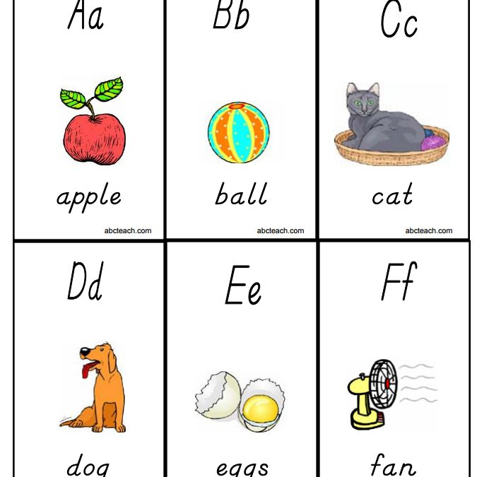 10 Sets of Free, Printable Alphabet Flashcards