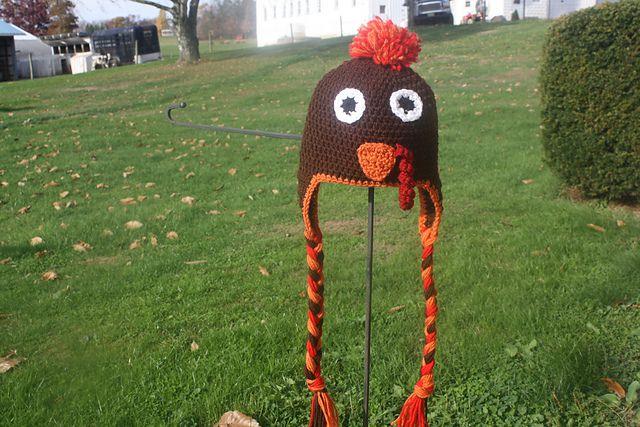 293ce3a4e2c Braided Earflap Turkey Hat FREE Crochet Pattern.