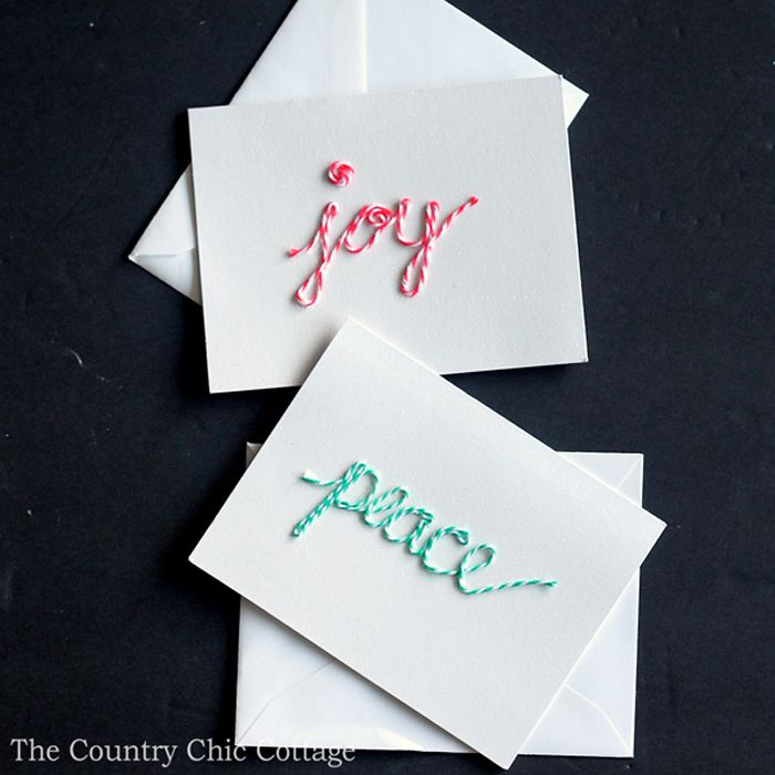 bakers twine Christmas Cards