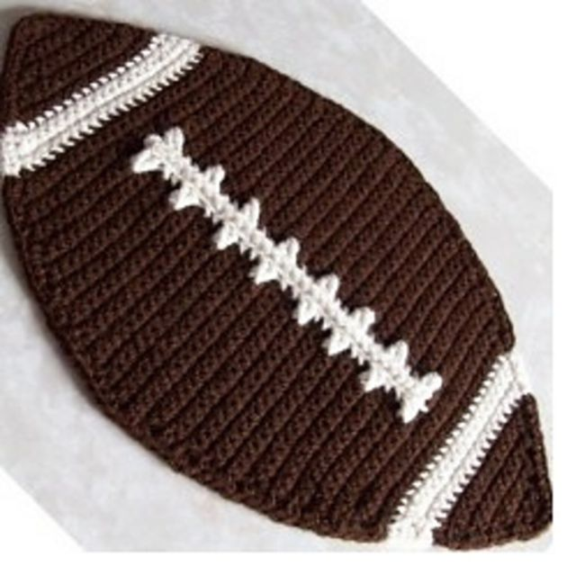 Crochet Football Placemat Free Pattern