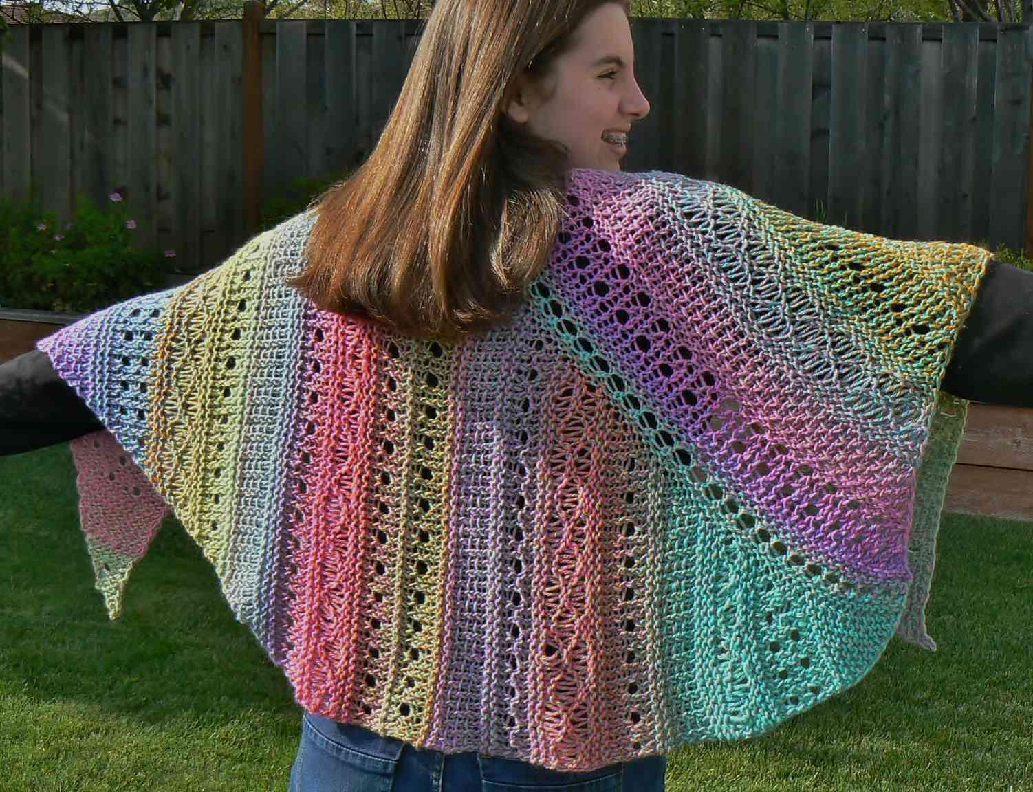 American Paris Shawl Lace Loom Knitting Pattern