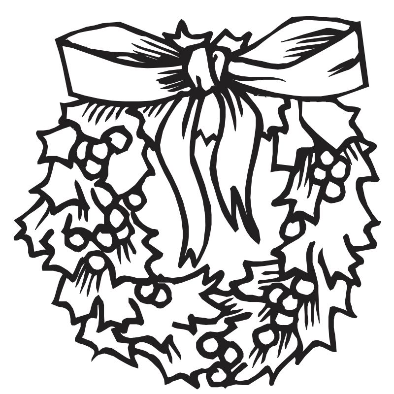 coloring castles christmas coloring pages a christmas wreath