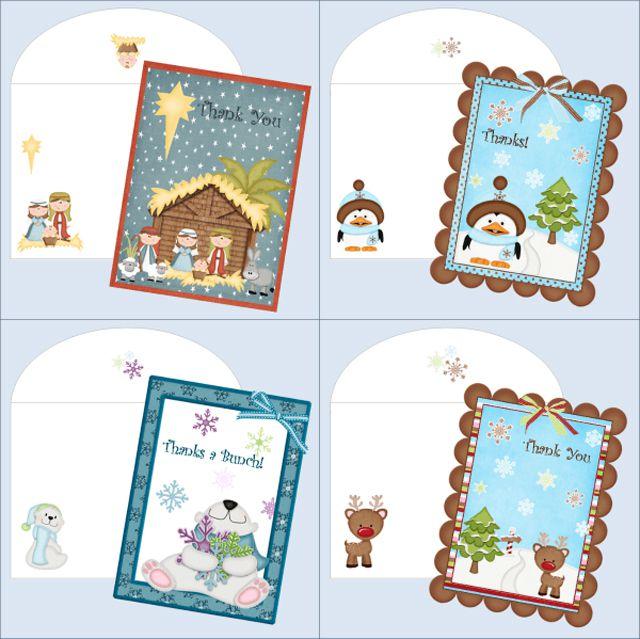 11 Free Printable Christmas Thank You Cards