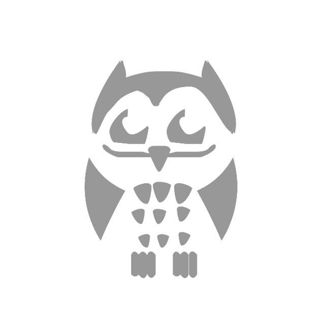 An owl stencil