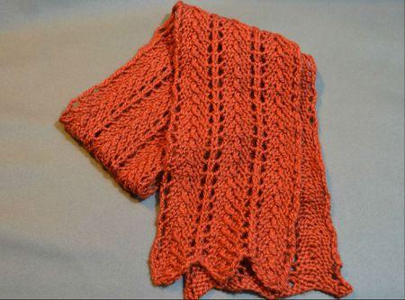 Free Razor Shell Scarf Knitting Pattern
