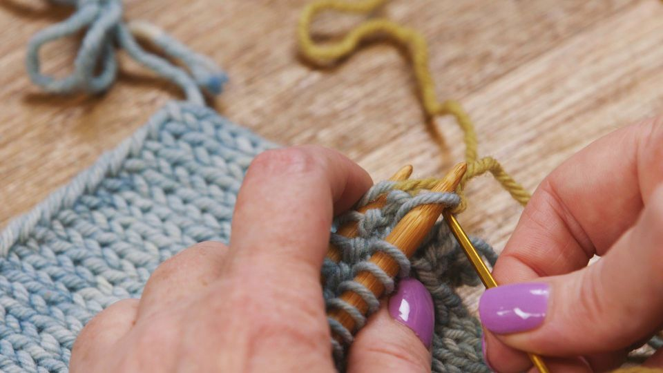 Grafting with kitchener stitch