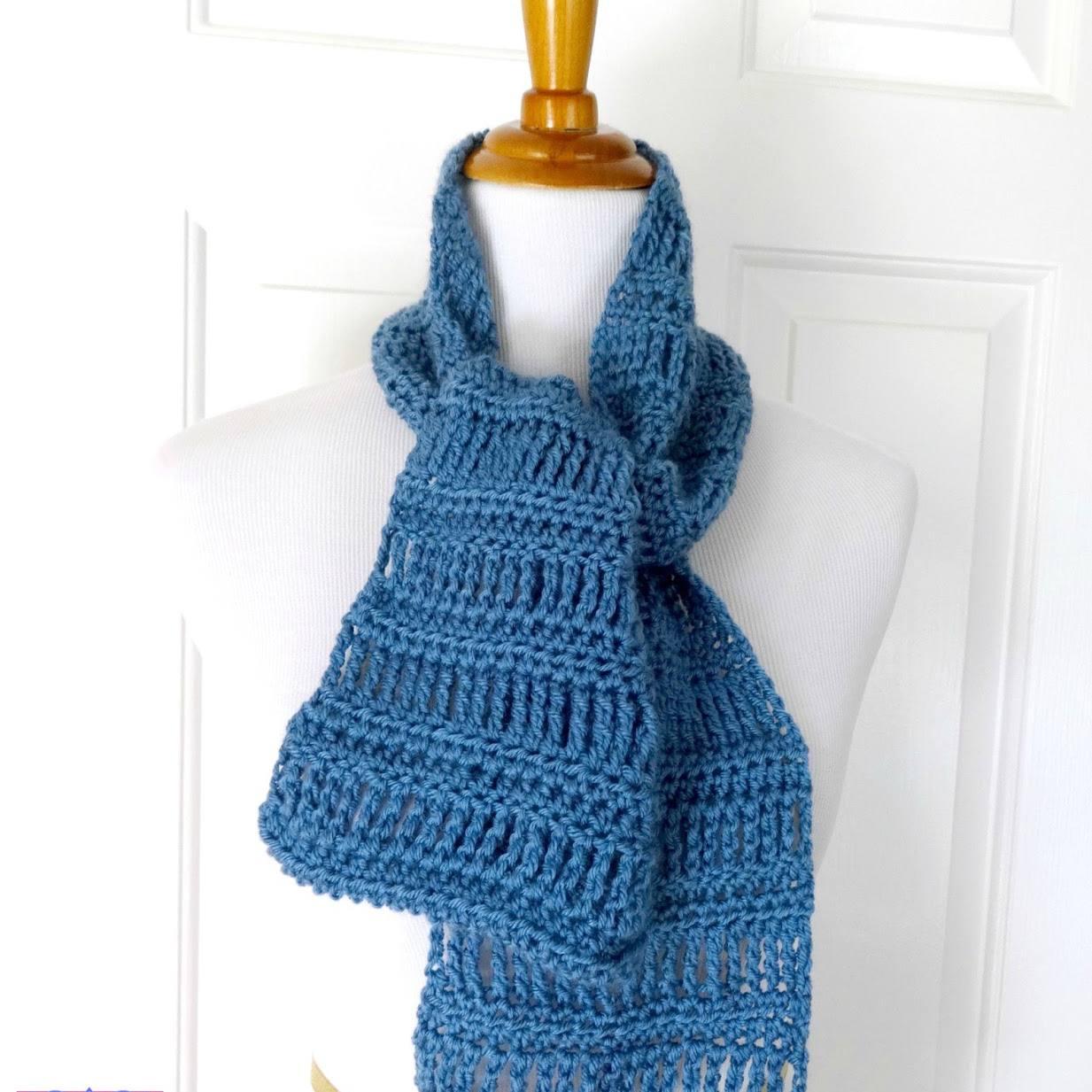 April Showers Scarf Free Crochet Pattern