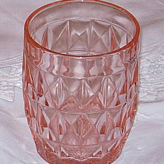 Windsor Pink Depression Glass Tumbler Glass