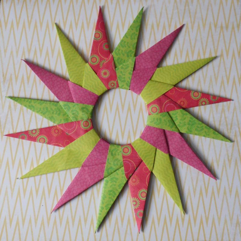 16 Point Origami Star Instructions