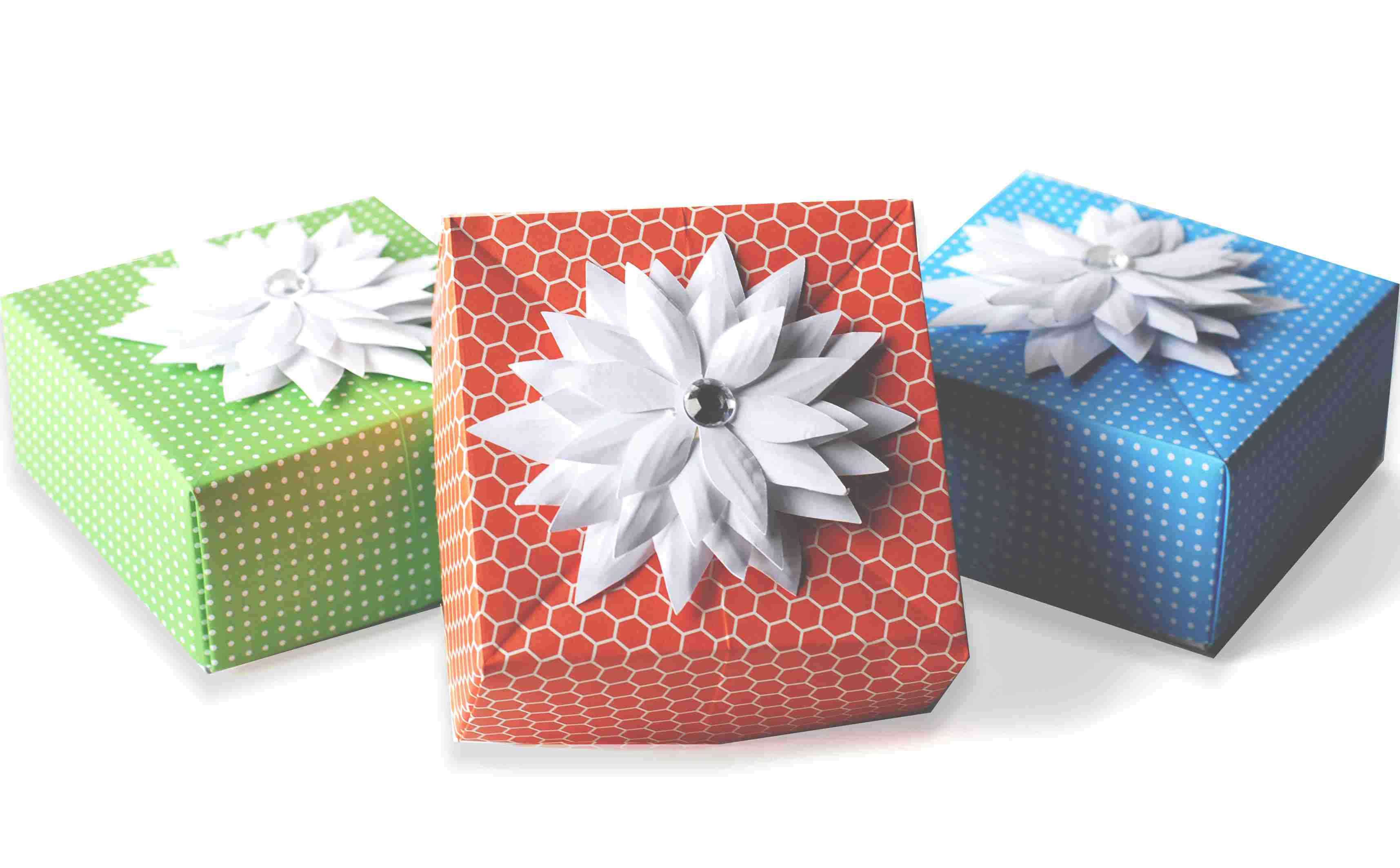 DIY Origami Gift Box Paper Craft