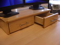 Computer Monitor Riser with dovetailed drawers