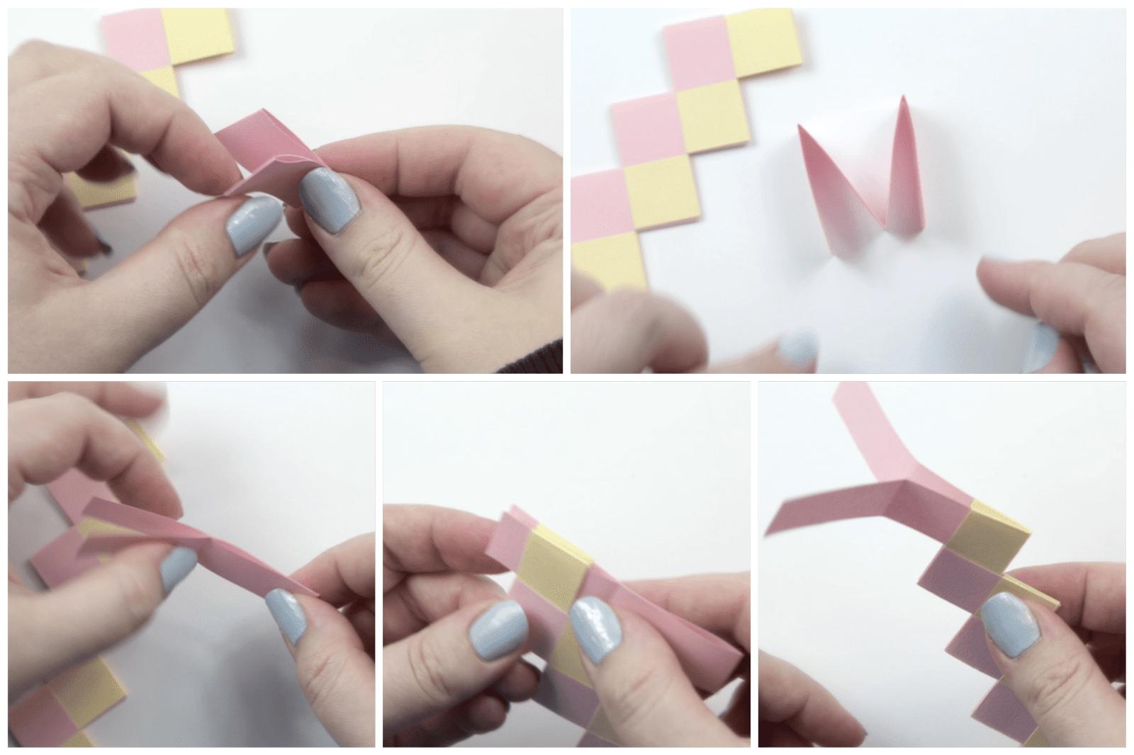 origami bracelet tutorial 05