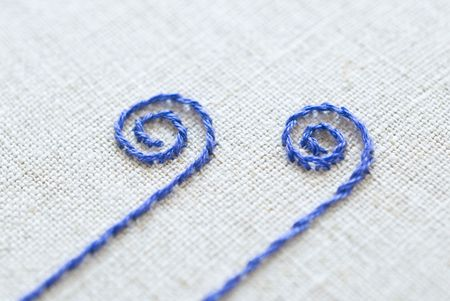 Comparing Outline And Stem Embroidery Stitches