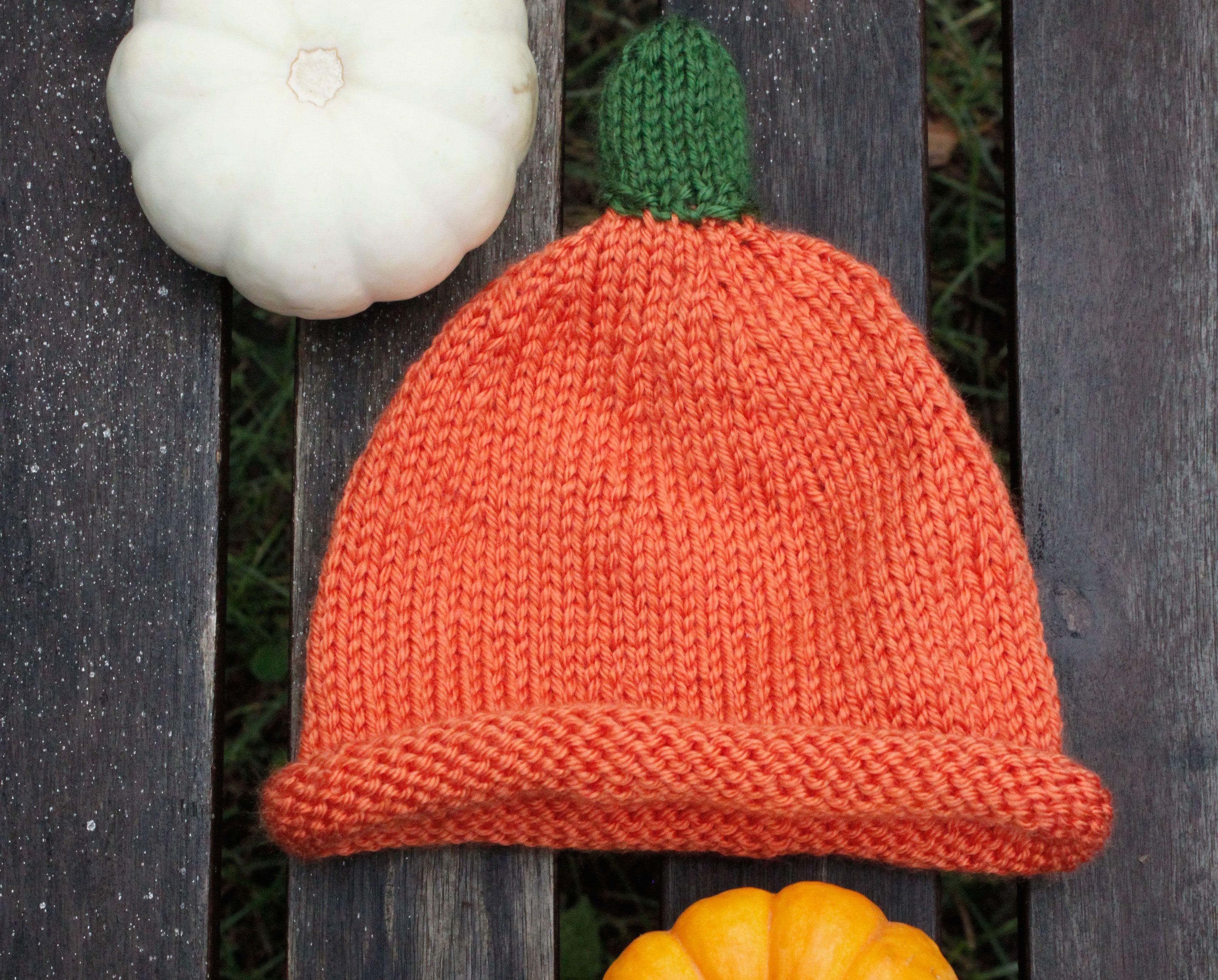 Knit Baby Pumpkin Hat Pattern