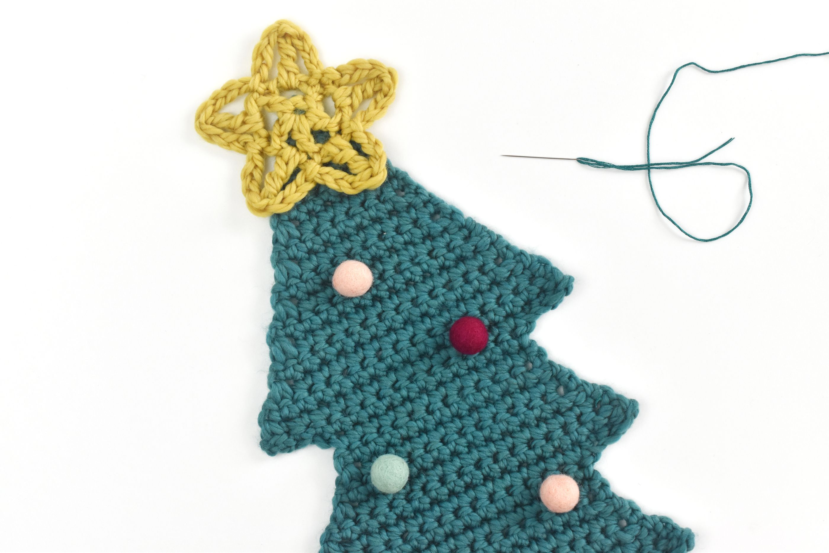 Free Christmas Tree Scarf Crochet Pattern