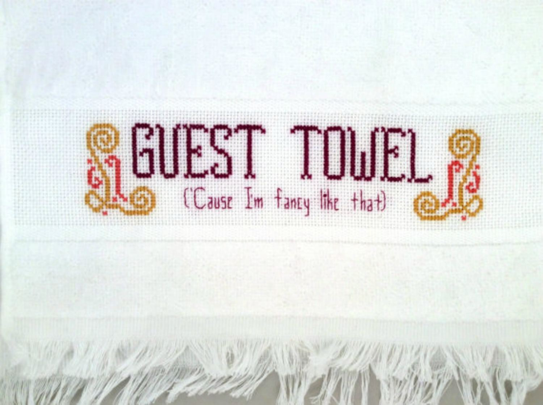 Guest Towel cross stitch